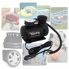 12V Portable Mini Air Compressor 300 PSI Bike Car Tyre Inflator Pump Cigarette
