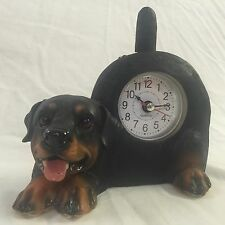 PRESIDENT'S SALE!!  Critter Clock Rottweiler Tabletop Wagging Tail Puppy Dog