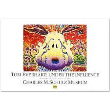 "Tom Everhart ""Nobody Barks In LA"" PEANUTS Fine Art Poster"