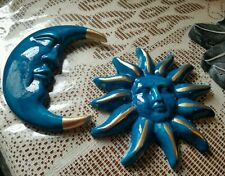 2 concrete molds new molds latex only sun and moon  ready to ship