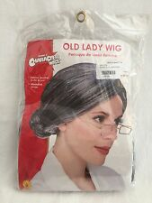 Old Lady Wig costume hair gray senior granny over the hill historical Rubie's