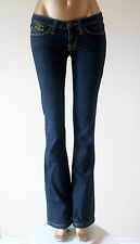 Miss Sixty Killah Dark Blue Boot Kick Flare Low Rise Jeans Long Tall 28 x 34