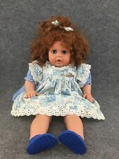2 Ft Jessie Collection Baby Doll 1992 Vintage Brown Hair Blue Eyes Quebec Canada
