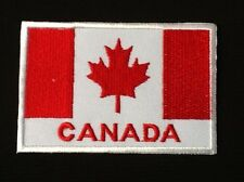 CANADA CANADIAN RED MAPLE LEAF NATIONAL FLAG BADGE IRON SEW ON PATCH BACKPACKER