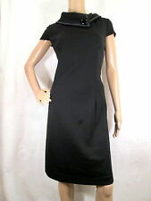LONDON STYLE Black Cap Sleeves Cowl Neck Fit & Flare Dress Size 16