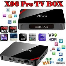 X96 PRO S905X Quad Core Android 6.0 Smart TV Box 4K Movie Sport WIFI BT VP9 D7H1