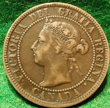 1893 XF High Grade CANADA LARGE CENT Victoria COIN CANADIAN  ..