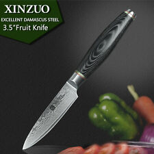 """chef knife Knives 3.5"""" inch layers Japanese Damascus steel kitchen Sharp Set Cut"""