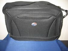 American Tourister Solid Black Boarding Bag Carry On Travel Bag NEW 10 x 15 x 6