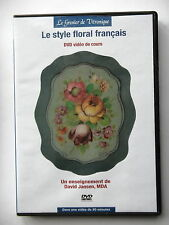 LE STYLE FLORAL FRANCAIS - DVD VIDEO DE COURS ENSEIGNEMENT DE D. JANSEN