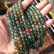 5.8mm Round Natural Indian Agate Gemstone Loose Beads Jewelry Making Strand 15""