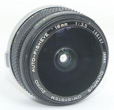 OLYMPUS ZUIKO 16mm f3.5 FISHEYE 16/3.5 LENS BROKEN FOR PARTS!!!