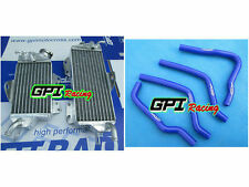 FOR KAWASAKI KX125 1990 1991-1992 ALUMINUM ALLOY RADIATOR & BLUE hose