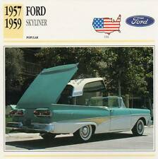 1957-1959 FORD SKYLINER Classic Car Photograph / Information Maxi Card