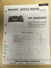Sharp Service Manual for the RP-3400 Turntable  Original