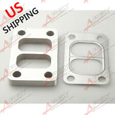 T3 T3/T4 T04E Divided SS304 Turbo Manifold Charger Flange+T304 SS Gasket US