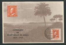 Italia MK 1959 FRANCOBOLLO Sicilia Sicilia carte MAXIMUM CARD MC cm 60564