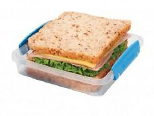 Sistema el gancho se 450ml Apilable Sandwich box/container Con Clip Tapa & Seal.