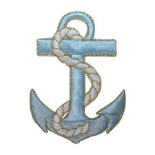 ID 2629 Anchor Nautical Boat Ship Marine Embroidered Iron On Applique Patch