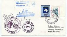 1988 Polarstern Forschungs Belgium Antarctic Epos 2 Vrije Polar Cover SIGNED