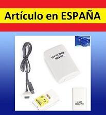1x Batería BLANCA MANDO XBOX 360 4800mAh cargador pr USB Recargable battery PACK