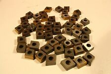 """Lot of 50 Misc. 3/8"""" (approx) Diamond Shaped Carbide Turning Inserts Lathe"""