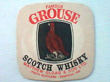 Famous Grouse Scotch Whiskey    beermat / coaster - Mathew Gloag & Son Ltd Perth