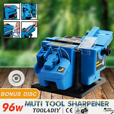Electric Multi Function Tool Sharpener Drill Bit Knife Scissor Chisel x2 Discs