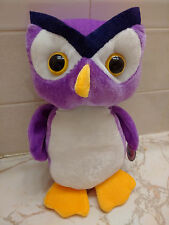 PURPLE PLUSH HOOTER OWL NINE INCHES HIGH