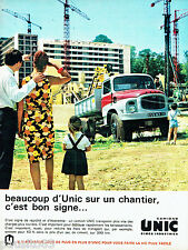 PUBLICITE ADVERTISING  026  1963  Simca Industies  camions Unic