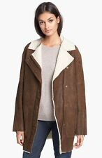 Theory Datyah Genuine Shearling Lamb Leather Coat Size Medium