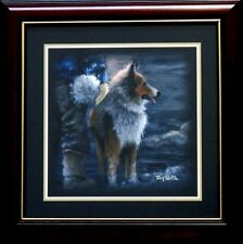 Winter Wonderland Sheltie By Terry Redlin Companion Framed Print