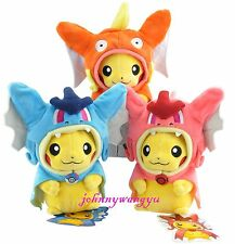 3Pcs/Set Pokemon Magikarp Pikachu Gyarados Plush Stuffed Animal Doll Toys Gifts