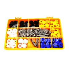 """122 ASSORTED NUMBER PLATE CAR FIXING FITTING KIT 3/4"""" SECURITY SCREWS CAPS KIT"""