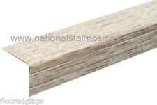 30x25mm White Oak Stair Nosing Step Nose Edging Trim For Laminate Wood Flooring