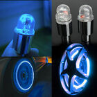 2x Neon LED Wheel Tyre Light Tire Spoke Valve Cap Lamp For Cycling Bike Bicycle