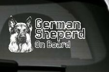 German Shepherd On Board, Car Sticker, High Detail, Great Gift For Dog Lover