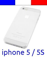 x1 Coque transparente de protection plastique rigide crystal pour iphone 5 5S