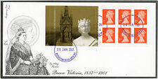 ROYALTY 2001 BOOKLET FDC QUEEN VICTORIA BUCKINGHAM PALACE P.O + CYLINDER No.