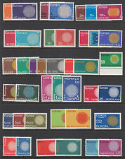 Europe, 1970 EUROPA - CEPT issues complete, 19 countries, 40 stamps, VF