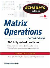 Matrix Operations by Richard Bronson (2011, Paperback, Revised)