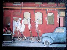 ROBERT GUINAN carton expo. Gal. Albert Loeb Paris auto jazz CHICAGO BAR américa