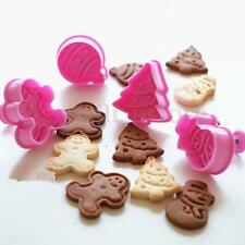 4Pcs Christmas Tree Fondant Pastry Cookies Cutter Mold Mould Cake Decoration