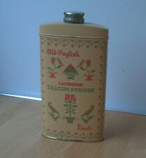 BOOTS 'OLD ENGLISH' LAVENDER TALCUM POWDER TIN, vintage, retro, shabby chic
