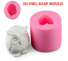 OWL 3D SOAP MOULD Candles/Melts,crafts, Silicone New Hand Crafted Mold NEW  PQ
