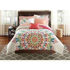 Bedding Set Full Size Comforter Sheets Bed In a Bag Polyester Complete Medallion