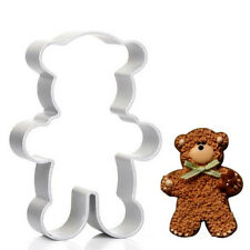 Lovely Silver Bear Shaped Cake Cookie Biscuit Cutting Mold Cutter Baking Tool