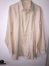 Barong Tagalog, Filipino Formal Dress Shirt Men's Size Large