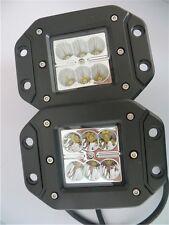 BULL BAR FLUSH MOUNTED SPOT BEAM 2 x LED LIGHTS 18W FLUSH MOUNTED