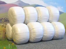 10 x set handmade White Silage Bales for Britains model farm diorama 1:32 scale